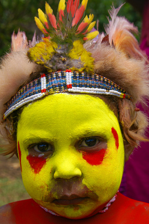 Child of the Huli Wigman Tribe